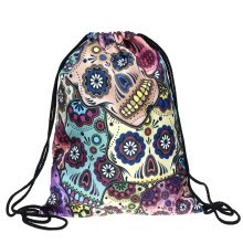 -Halloween Accessories Gifts Unisex Skullcandy Bones Printed Backpacks Drawstring Shoulder Rucksack Sport Travel Casual Backpack on JD