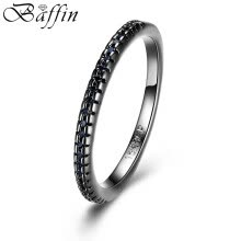 -Vintage Black Gun Plated Finger Rings Made With Cubic Zirconia Rhinestone Fashion Simple Party Jewelry For Women Men on JD