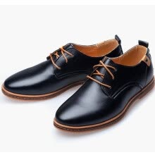 -Casual Leather Men Business Shoes Leather Oxford Shoes  (US Size 6-13, Brown, Black,Blue) on JD