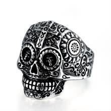 -Men's Gothic Carving Ring Man Stainless Steel High Quality Detail Biker Skull Jewelry For Boy The Lord Of Ring on JD