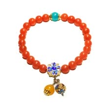 bracelets-bangles-JingTian jewelry South red agate bracelet strings  Persimmon red agate bracelet For girls on JD