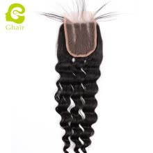 hairpieces-Ghairs Virgin Human Hair Top Lace Closure Loose Deep Wave on JD
