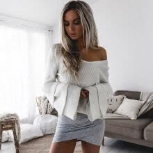 875061823-New Womens Oversized Loose Knitted Sweater Batwing Sleeve Tops Cardigan Outwear on JD