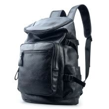 875062576-Han edition student backpack backpack backpack big capacity fashion leisure leather bag computer bag on JD