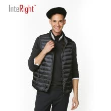 -INTERIGHT 90 white duck down men collar ultra-light portable feather vest gray blue XXL code on JD