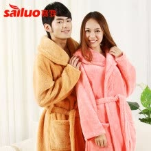 other-bathroom-products-New Women Coral Fleece Winter Autumn Warm Bathrobe Nightgown Kimono Dressing Gown Sleepwear Robe For Lady Long Man Bathrobe on JD