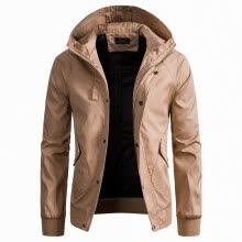 e5a63d01634 AOWOFS new large size men s jacket high quality European code jacket jersey  solid color hooded jacket B024